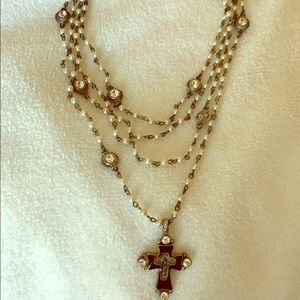 Virgins, Angels & Saints cross  necklace